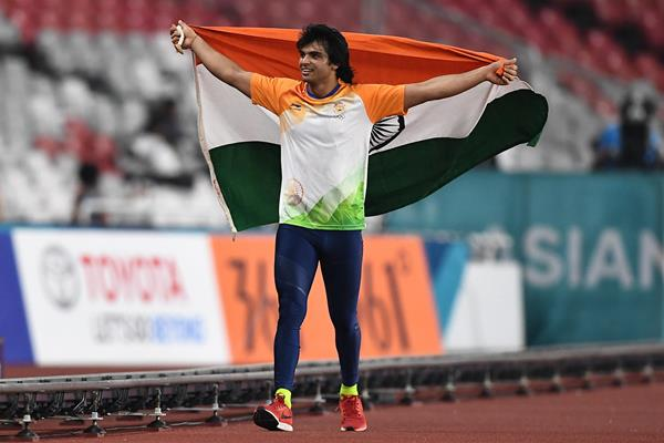 Neeraj Chopra at the 2018 Asian Games (Getty Images)