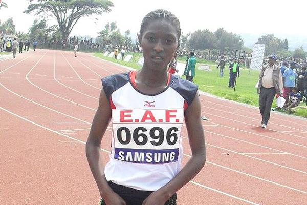 Senbere Teferi after winning the 2013 Ethiopian 5000m title (Bizuayehu Wagaw)