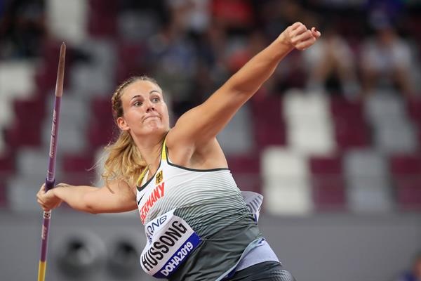 Christin Hussong at the IAAF World Athletics Championships Doha 2019 (Getty Images)