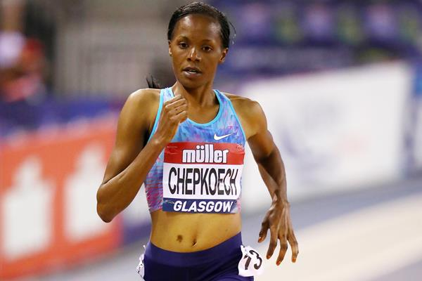 Beatrice Chepkoech at the World Indoor Tour meeting in Glasgow (Getty Images)