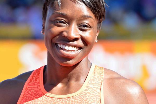 Janeba Tarmoh at the 2015 IAAF Diamond League in Birmingham (Jean-Pierre Durand)