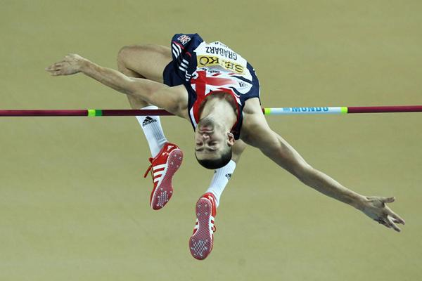 Robert Grabarz of Great Britain competes in the Men's High Jump qualification during day two - WIC Istanbul (Getty Images)