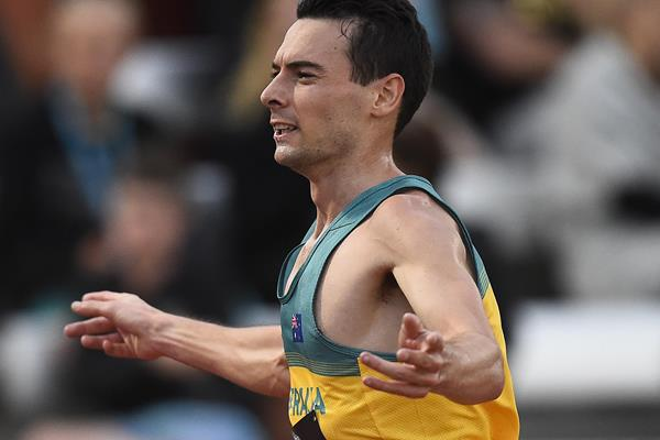 Harry Summers wins the 10,000m at the Oceanian Championships in Townsville (Getty Images)