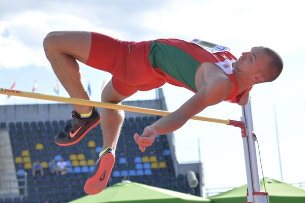 Maksim Andraloits in the decathlon high jump at the IAAF World U20 Championships Bydgoszcz 2016 (Getty Images)