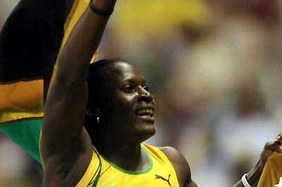 Deloreen Ennis-London of Jamaica after her win at the 100m Hurdles at the Pan American Games (AFP / Getty Images)