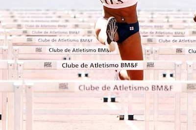 Kristi Castlin (USA) on the way to winning the Pan Am Jnr 100m Hurdles (Bruno Miani/CBAt Divulgação)