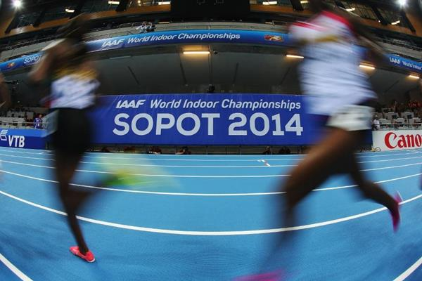 Athletes in action at the 2014 IAAF World Indoor Championships in Sopot (Getty Images)