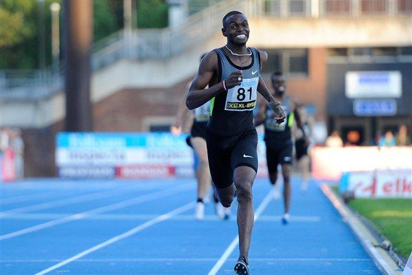 Abubaker Kaki en route to a 1:43.69 win in Sollentuna (DECA Text&Bild)