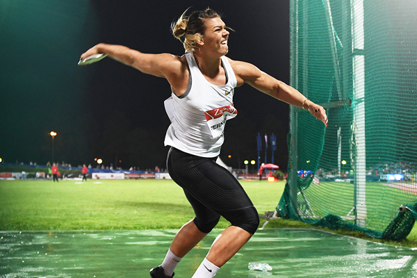 Sandra Perkovic in action at the IAAF World Challenge meeting in Zagreb (Organisers)