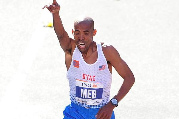 Meb Keflezighi at the 2011 New York Marathon (Getty Images)