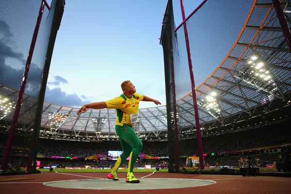 Andrius Gudzius of Lithuania in the men's discus final at the IAAF World Championships London 2017 (Getty)