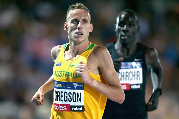 Ryan Gregson winning the elimination mile in Melbourne (Getty Images)