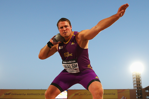 Tom Walsh in the shot put at the IAAF Continental Cup Marrakech 2014 (Getty Images)