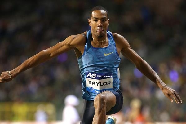 Christian Taylor at the 2015 IAAF Diamond League final in Brussels (Giancarlo Colombo)