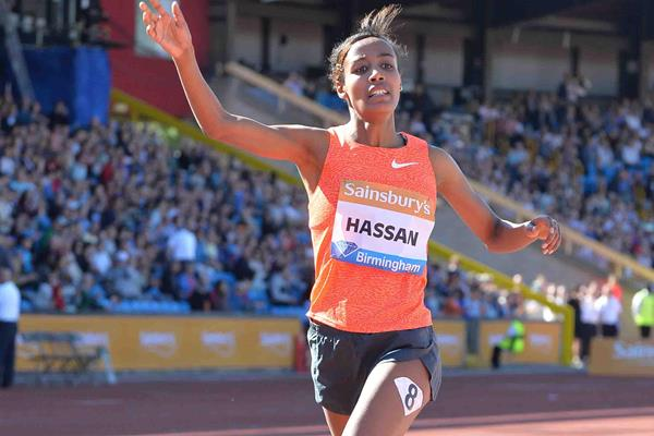 Sifan Hassan wins the 1500m at the 2015 IAAF Diamond League in Birmingham (Jean-Pierre Durand)