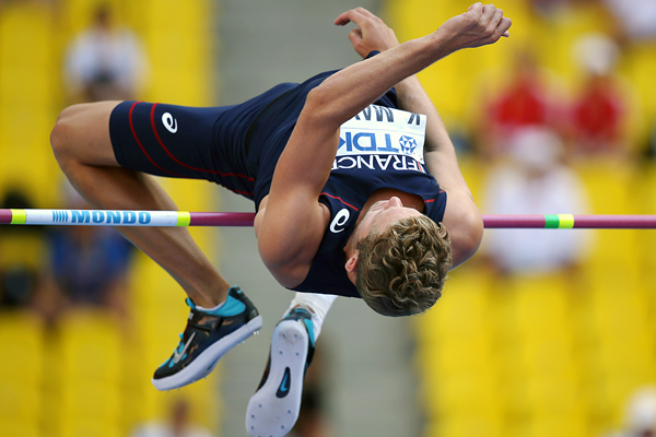 Kevin Mayer in the decathlon high jump at the IAAF World Championships Moscow 2013 (AFP / Getty Images)