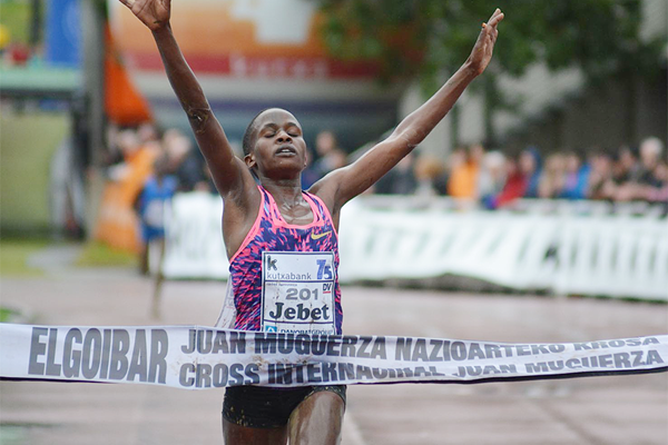 Ruth Jebet wins at the Cross Internacional Juan Muguerza in Elgoibar (Fundación ANOC)