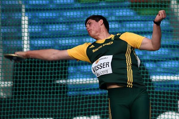 Werner Visser at the IAAF World Youth Championships, Cali 2015 (Getty Images)
