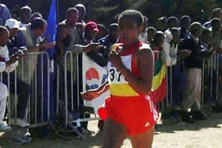 Ethiopian distance runner Korene Jelila (Elshadai Negash)