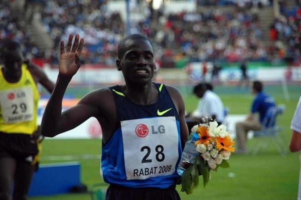 Paul Kipsiele Koech after his steeplechase victory in Rabat (organisers)