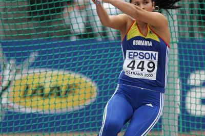 Bianca Perie of Romania during the Hammer Throw qualification (Getty Images)