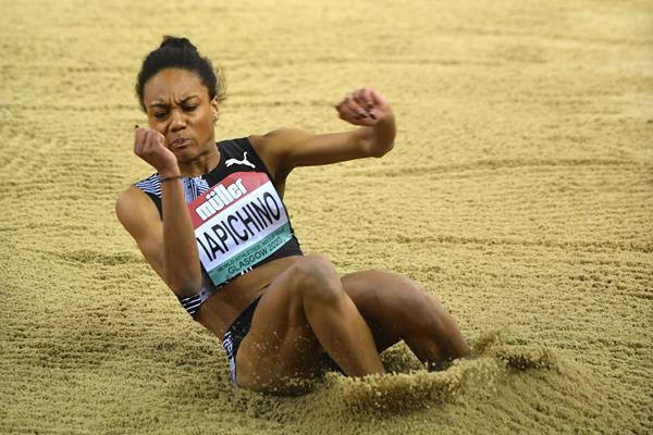 Italian long jumper Larissa Iapichino in action (Getty Images)