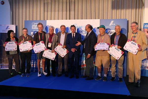 Journalists who have covered each of the IAAF's 16 World Championships (Giancarlo Colombo)