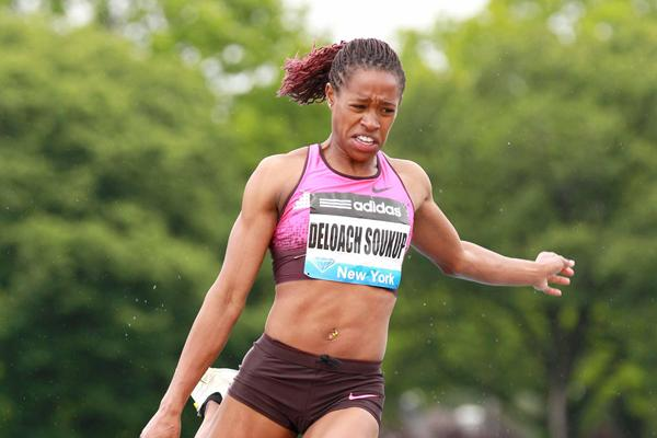 Janay DeLoach Soukup at the 2013 adidas Grand Prix in New York (Victah Sailer)