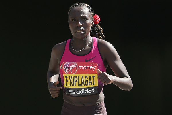 Kenyan marathon runner Florence Kiplagat in action (Getty Images)
