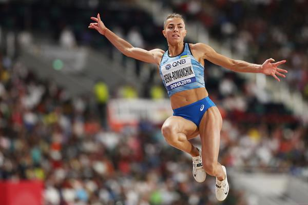 Maryna Bekh-Romanchuk at the IAAF World Athletics Championships Doha 2019 (Getty Images)