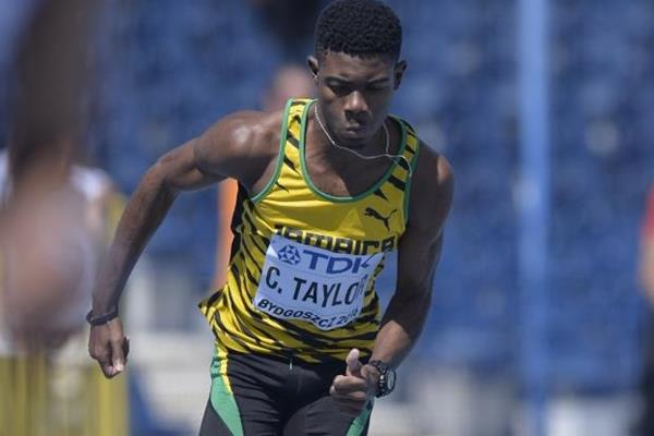 Christopher Taylor of Jamaica competes in the opening round of the 400m at the IAAF World U20 Championships Bydgoszcz 2016 (Getty Images)