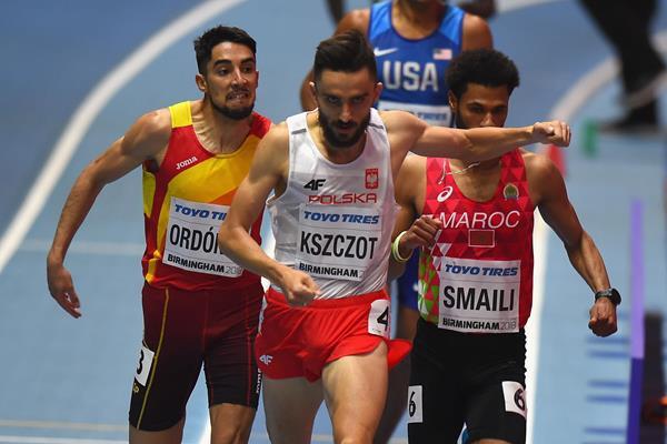 Adam Kszczot winning his 800m heat in Birmingham (Getty Images)