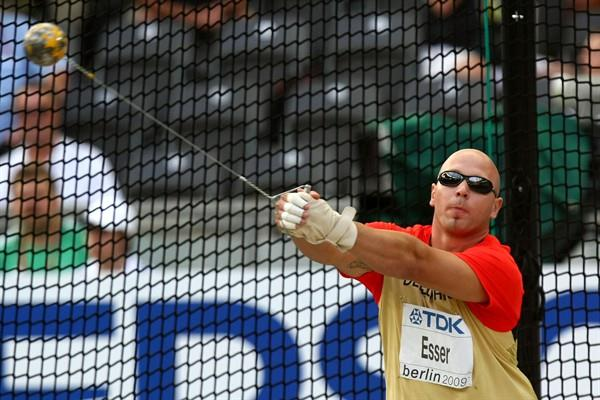 Markus Esser of Germany in the men's Hammer Throw final at the 12th IAAF WorldChampionships in Athletics (Getty Images)