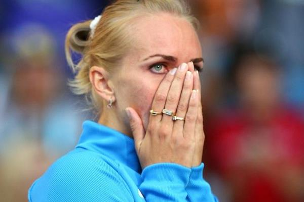 Svetlana Shkolina in the womens High Jump at the IAAF World Athletics Championships Moscow 2013 (Getty Images)