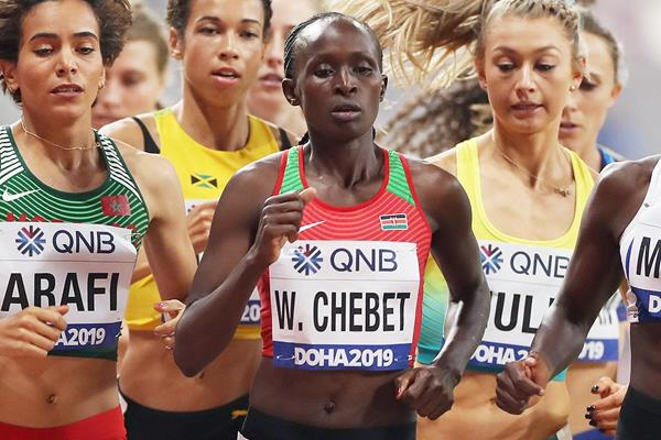Winnie Chebet at the IAAF World Athletics Championships Doha 2019 (AFP / Getty Images)