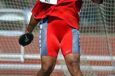 Aretha Hill in Action at 2003 US Nationals (Kirby Lee for the IAAF)