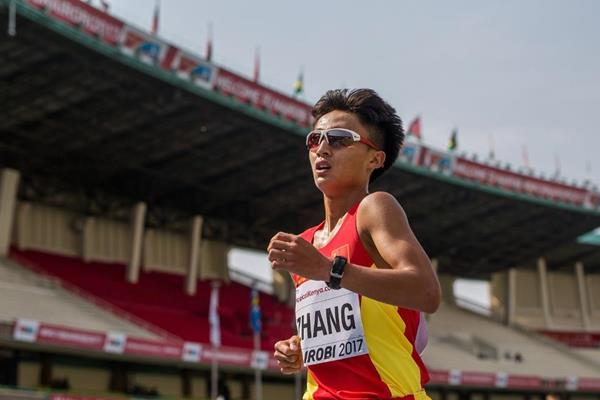 Zhang Yao in the 10,000m race walk at the IAAF World U18 Championships Nairobi 2017 (Getty Images)