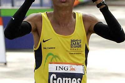 Marilson Gomes dos Santos of Brazil wins in New York (AFP / Getty Images)