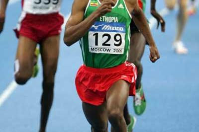 Kenenisa Bekele of Ethiopia on his way to gold in the men's 3000m final (Getty Images)