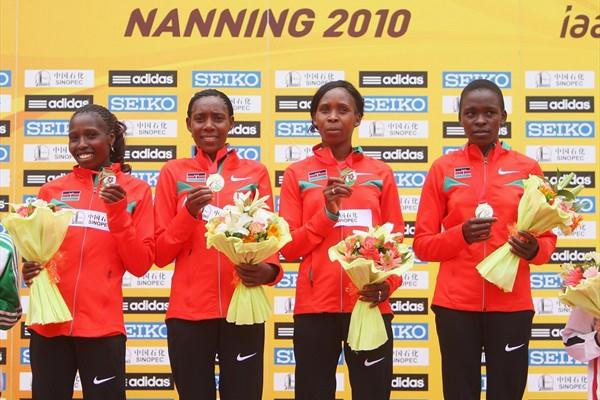 Kenyan women take another World Half Marathon team title - Nanning 2010 (Getty Images)