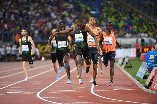 Another Diamond League victory for Wyclife Kinyamal, this time in Rome (Hasse Sjogren)