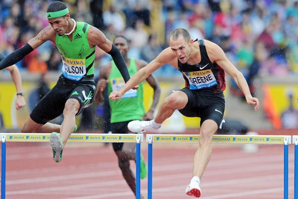 Dai Greene takes another confident win over 400m Hurdles at the Birmingham Diamond League  (Mark Shearman)