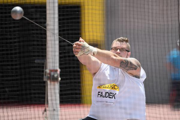 Pawel Fajdek in the hammer at the IAAF World Challenge meeting in Osaka (Getty Images)