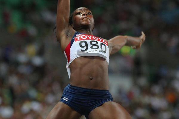 USA's Tianna Bartoletta in the long jump (Getty Images)