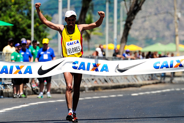 Claudio Villanueva wins the 50km at the Brazil Race Walk Cup in Rio (Getty Images)