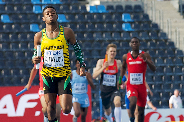 Christopher Taylor in the 4x400m at the IAAF World U20 Championships Bydgoszcz 2016 (Getty Images)