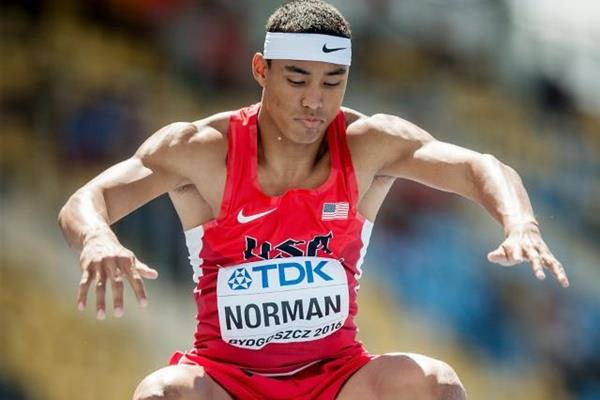 Michael Norman in the 200m at the IAAF World U20 Championships Bydgoszcz 2016 (Getty Images)
