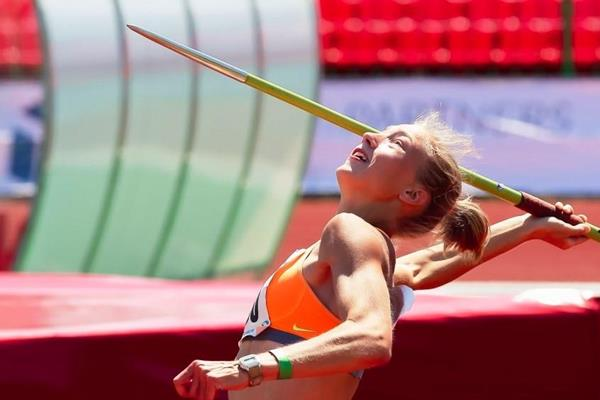 Alina Shukh in action during the women's heptathlon at the Ukrainian Championships in Lutsk (Mykola Martynyuk, FLAVO)