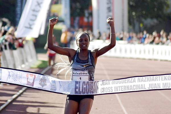 Hellen Obiri wins at the Cross Internacional Juan Muguerza in Elgoibar (Fundacion ANOC)