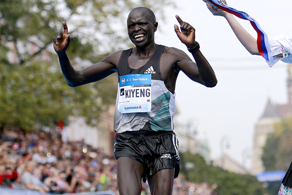 David Kiyeng winning the Kosice Peace Marathon (Organisers)